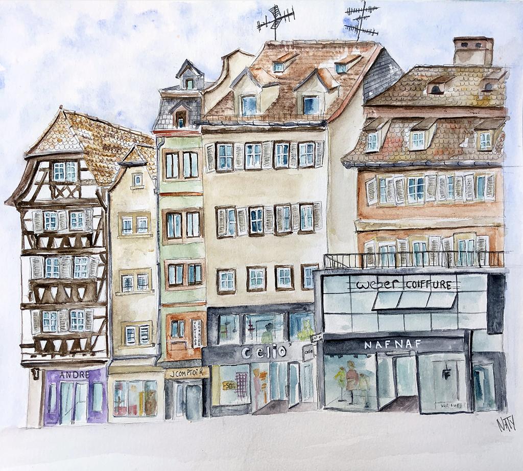 Facades de la Place Kléber à Strasbourg