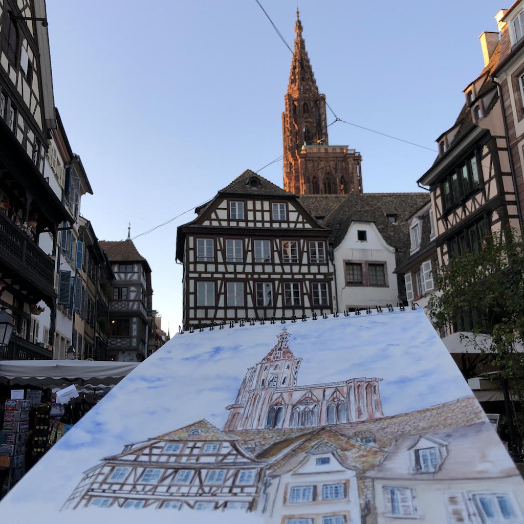 Cathédrale vue depuis le vieux Strasbourg