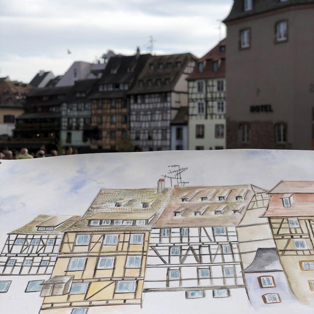 Façades de la Petite France à Strasbourg