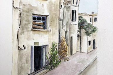 Aquarelle rue de Niort