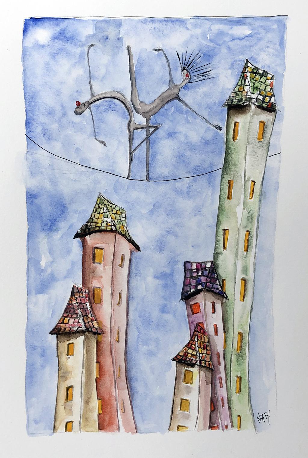 Les funambules sur la ville
