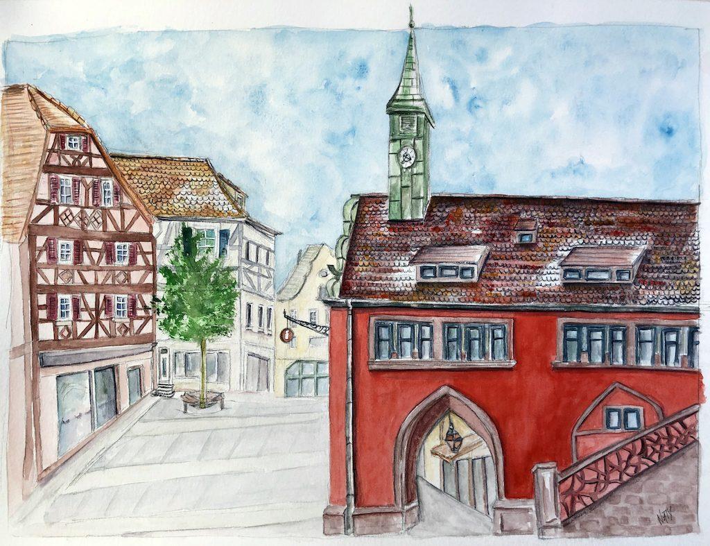 Office de tourisme de Lahr/Schwarzwald à l'aquarelle